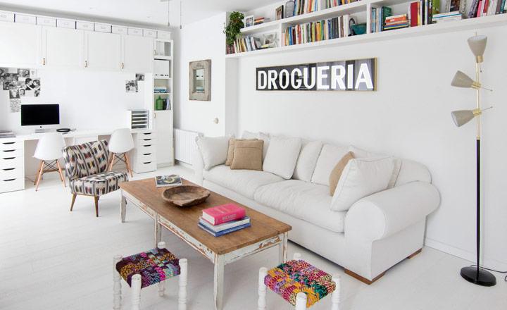 Cách thiết kế căn hộ 45m2 với màu trắng chủ đạo