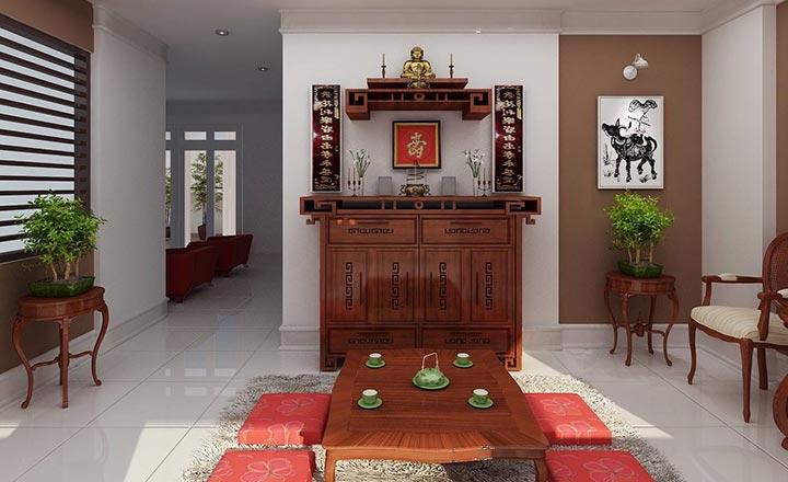 Đặt bàn thờ gia tiên trong căn hộ chung cư