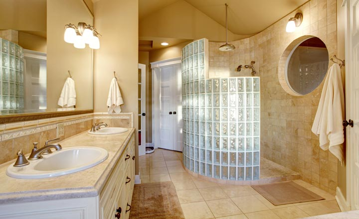 Những kiểu lát gạch phòng tắm ấn tượng