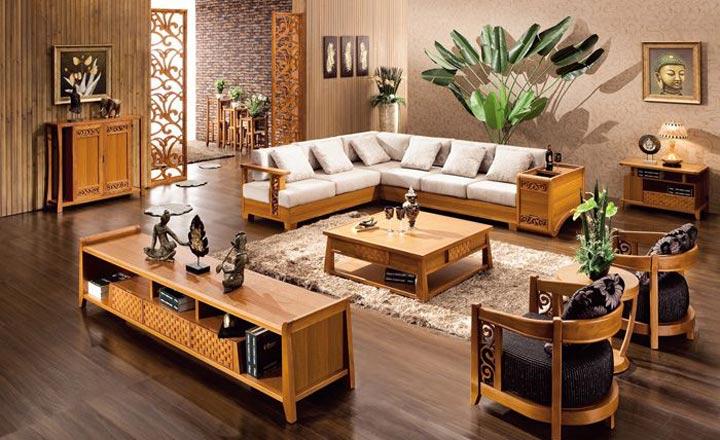 Trang trí phòng khách bằng màu cổ điển